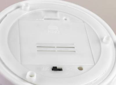 Dome Light LED-Base mit Dekor batteriebetrieben Bisquitporzellan, weiss, Ersatzteller, Unterteller - 1