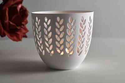 Porzellan-Becher Zweige, Teelichthalter Windlicht Lichterzauber Tealight Cups - 1