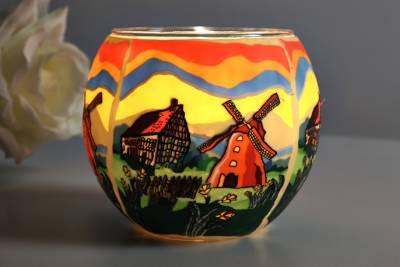 Leuchtglas 21636 Springtime Ø11cm Dekoration Teelicht Windlicht Kerzenfarm Kerze - 1