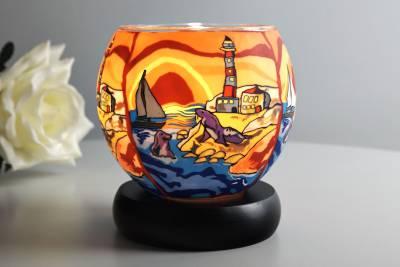 Kerzenfarm Leuchtglas Lampe 21002 Seaside, Ø11cm Dekoration Teelicht Windlicht Kerze - 1