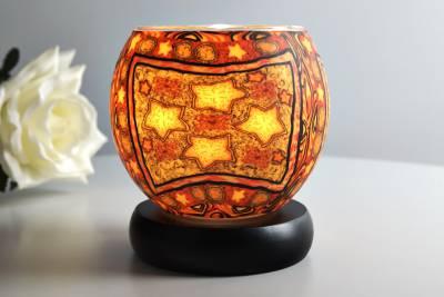 Leuchtglas Lampe 21201 - 4 sterne Ø11cm Dekoration Teelicht Windlicht Kerzenfarm Kerze - 1