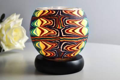 Kerzenfarm Leuchtglas als Lampe 21408 Fantasy, Ø11cm Dekoration Teelicht Windlicht Kerze - 1
