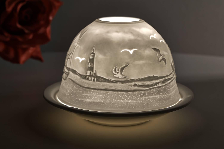 Kerzenfarm Hahn Dome Light Nr. 32808 Fischkutter - Teelicht Windlicht Dekoration Porzellanteelicht - 2