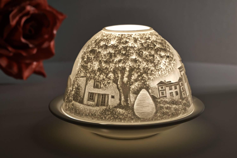 Kerzenfarm Hahn Dome Light, Nr. 30170 Provence - Teelicht Windlicht Dekoration Porzellanteelicht - 2