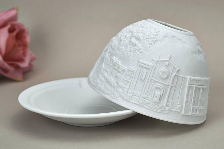Kerzenfarm Hahn Dome Light, Nr. 30170 Provence - Teelicht Windlicht Dekoration Porzellanteelicht - 3