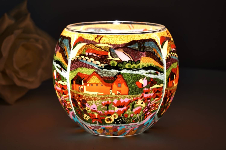 Leuchtglas 21416 Dreamhouse 11cm Kerzenhalter Teelicht Windlicht Kerzenfarm - 2