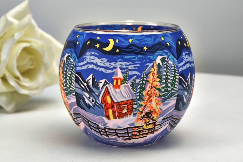 Leuchtglas 21829 Silence 11cm Kerzenhalter Teelicht