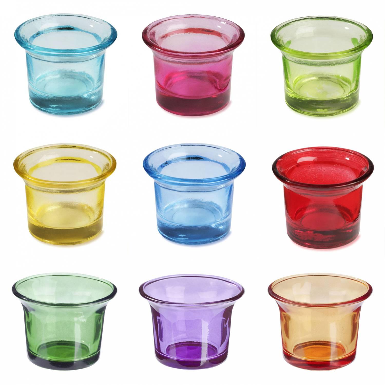 auswahl bunt teelichthalter glas teelichtglas. Black Bedroom Furniture Sets. Home Design Ideas