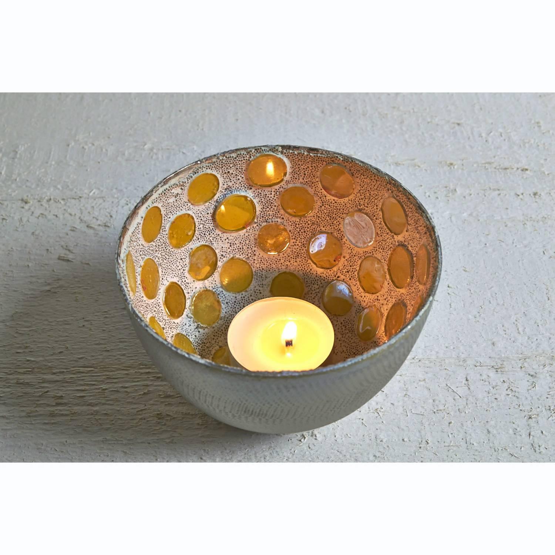 leuchter spot aluminium gelb silber teelichthalter windlichthalter 10cm deko ebay. Black Bedroom Furniture Sets. Home Design Ideas