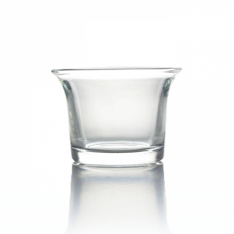 teelichthalter glas klar transparent teelichtglas. Black Bedroom Furniture Sets. Home Design Ideas