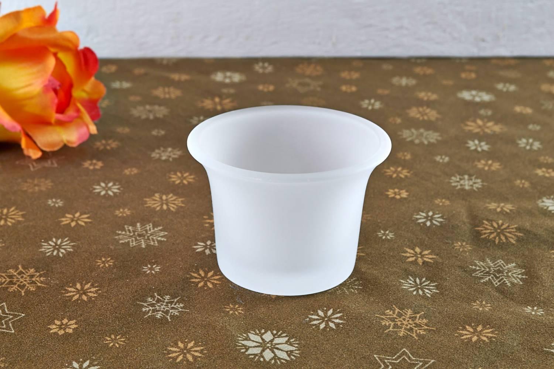 teelichthalter glas gefrostet milchig teelichtglas windlichthalter kerzenst nder. Black Bedroom Furniture Sets. Home Design Ideas
