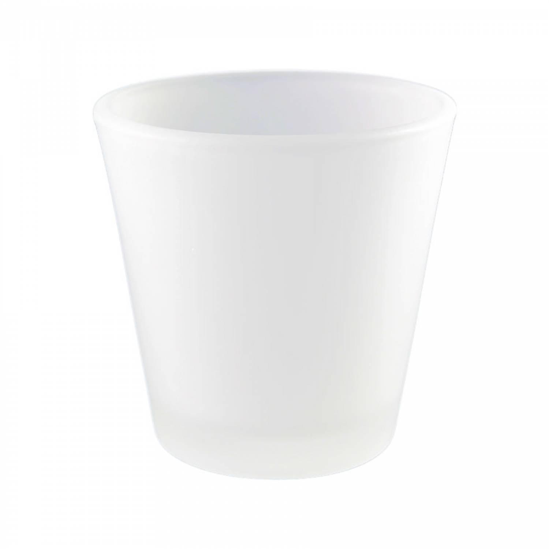 Teelichtglas, Teelichthalter, gefrostet, Windlichthalter, Deko, Kerze, Glas für Teelichter - 2