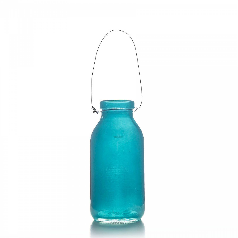 deko flasche t rkis glasflasche dekoflasche vase. Black Bedroom Furniture Sets. Home Design Ideas
