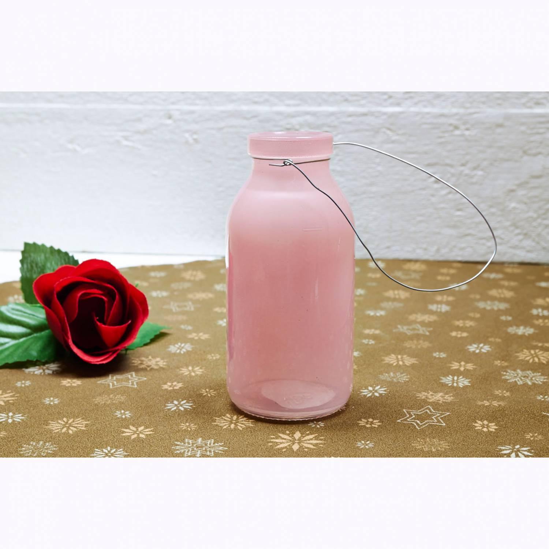 Deko Flasche Rosenholz Altrosa Glasflasche Dekoflasche Vase