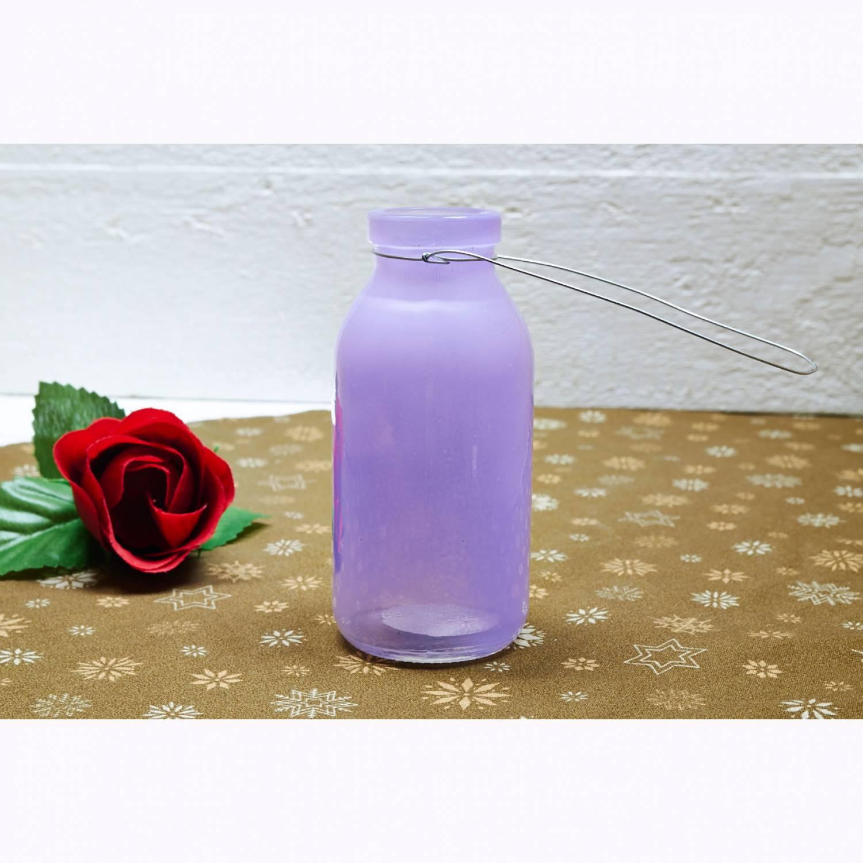 Deko Flasche Lavendel Lila Glasflasche Dekoflasche Vase Tischdeko