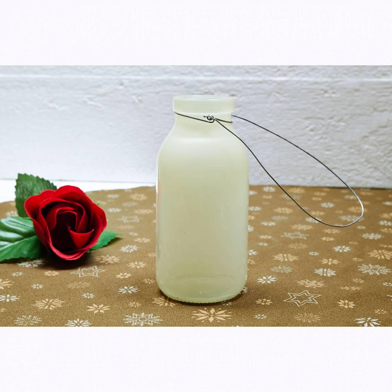 Deko Flasche Creme Beige Glasflasche Dekoflasche Vase