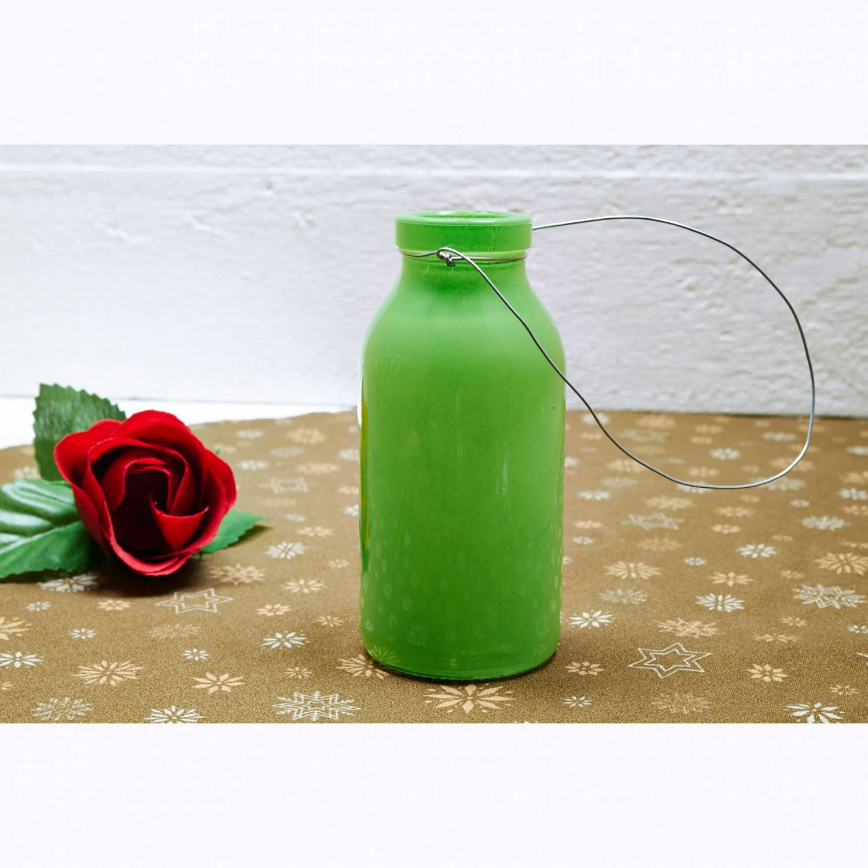 Deko Flasche Apfelgr N Glasflasche Dekoflasche Vase