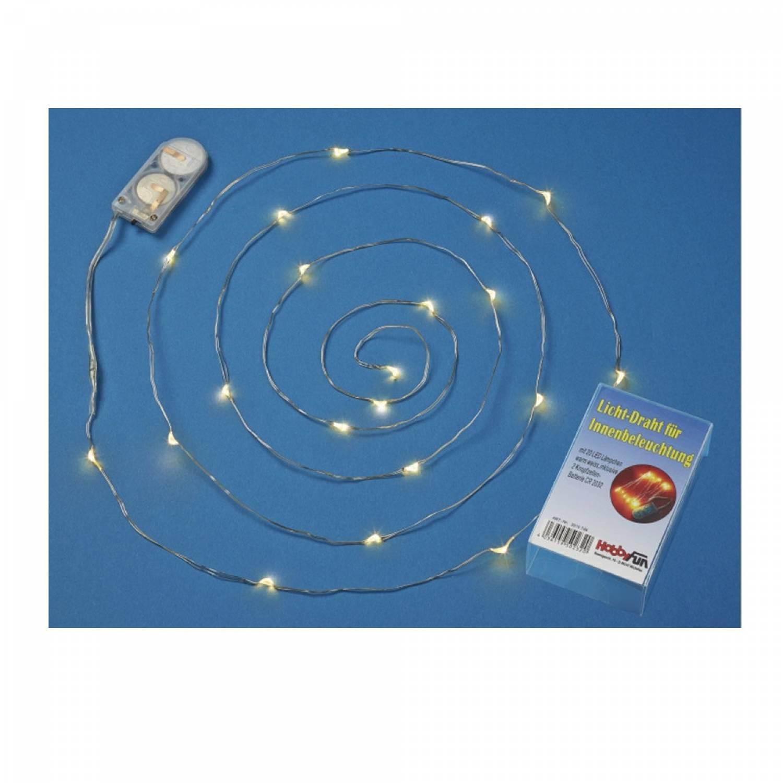 led leuchtdraht 20er micro led lichterkette biegsam batterie warmweiss leuchtglas versand. Black Bedroom Furniture Sets. Home Design Ideas