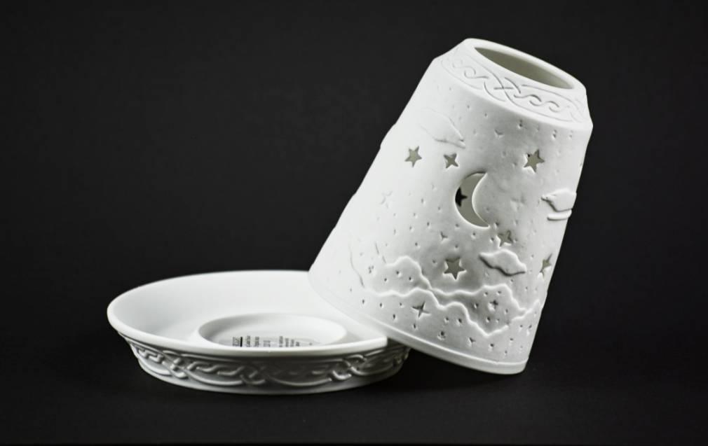 Starlight Glocke Nr.127 Firmament Mond und Sterne Windlicht Teelichthalter - 2