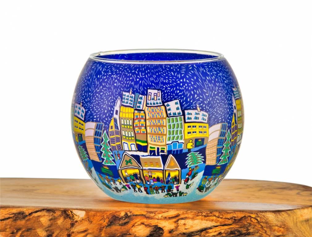 Leuchtglas Nr.44 ohne Wachs Ø11cm Dekoration Licht Windlicht ...
