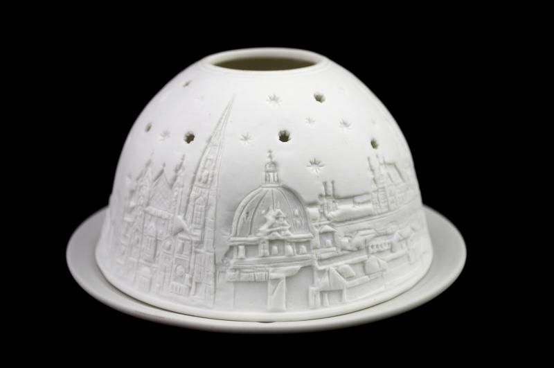 Starlight Nr.233 - Hellmann Teelicht Porzellan-Windlicht Motiv Porzellan Stephansdom Wien - 3