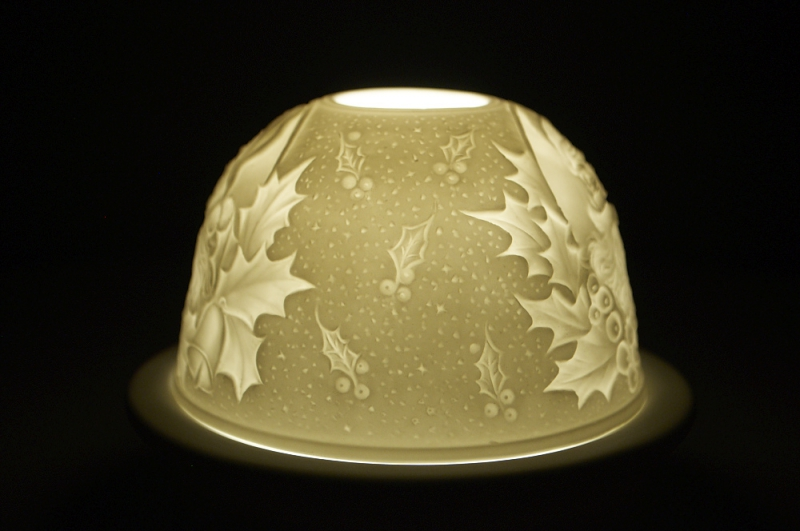 Starlight 43 Weihnachten Hellmann Windlicht Teelicht Bisquitporzellan - 2