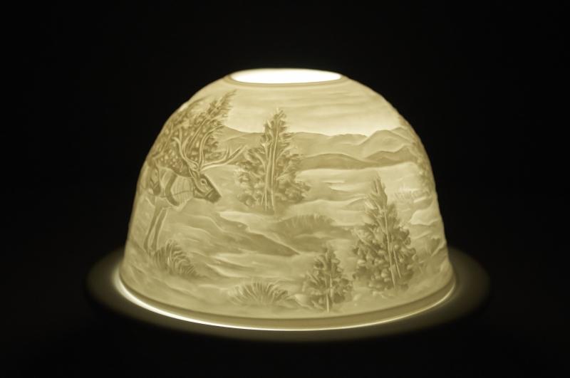 Starlight 40 Weihnachtsmann Geschenke Hellmann Porzellan-Windlicht Teelichthalter - 2