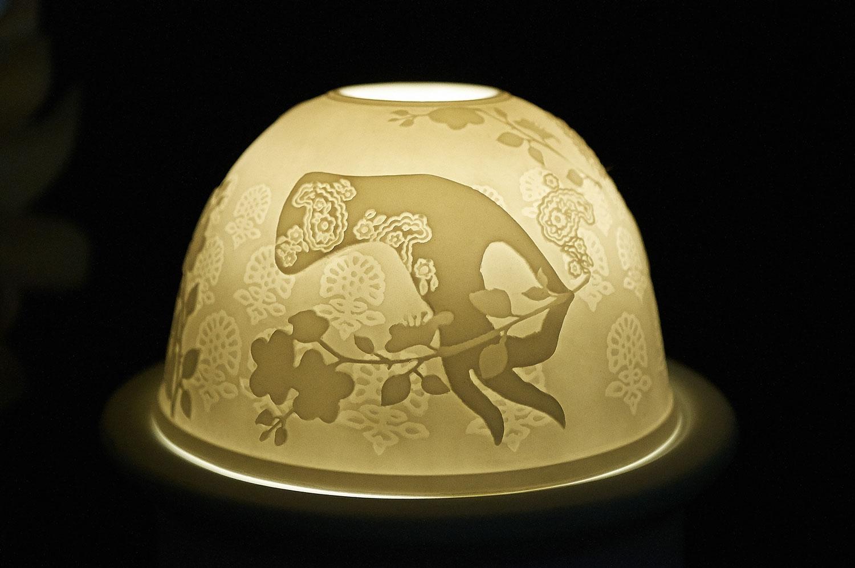 Starlight Nr.211 - Teelicht Windlicht Dekoration Porzellanteelicht Bisquitporzellan Buddha 2 - 2