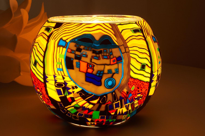Windlichthalter-Glas-Leuchtglas-15cm-Dekoration-Teelicht-Windlicht-Kerzenfarm