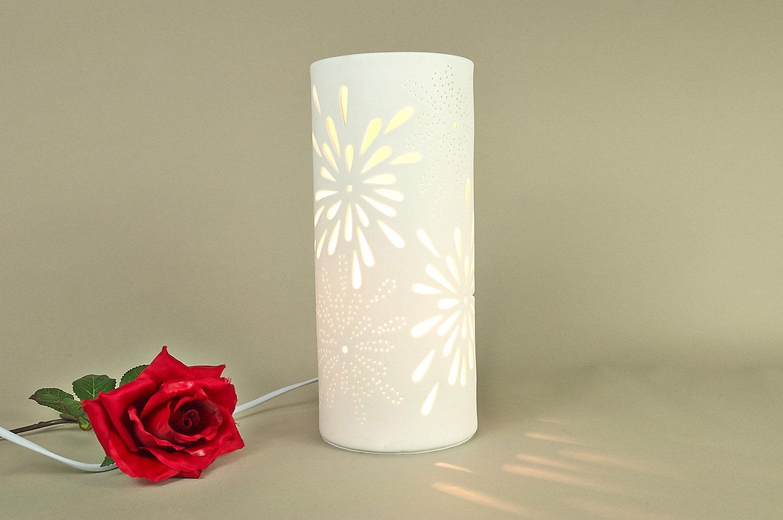 tischlampe tischleuchte porzellan deko licht. Black Bedroom Furniture Sets. Home Design Ideas