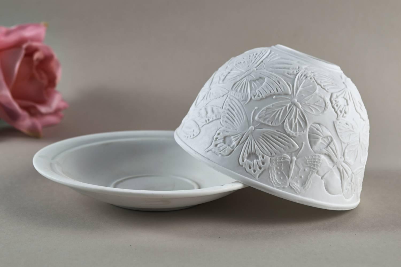 Kerzenfarm Dome Light, Nr. 30008 Schmetterlinge - Teelicht Windlicht Dekoration Porzellanteelicht - 2