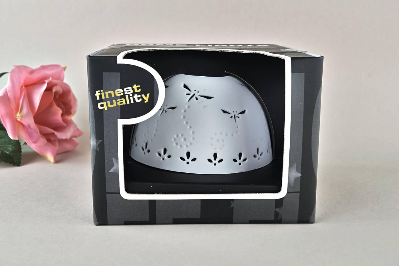 Kerzenfarm Hahn Dome Light Nr. 30010 Libellen - Teelicht Windlicht Dekoration Porzellanteelicht - 3