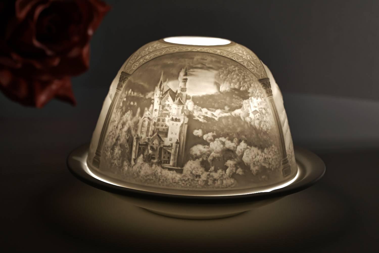 Kerzenfarm Dome Light Nr. 30013 Neuschwanstein - Teelicht Windlicht Dekoration Porzellanteelicht - 2