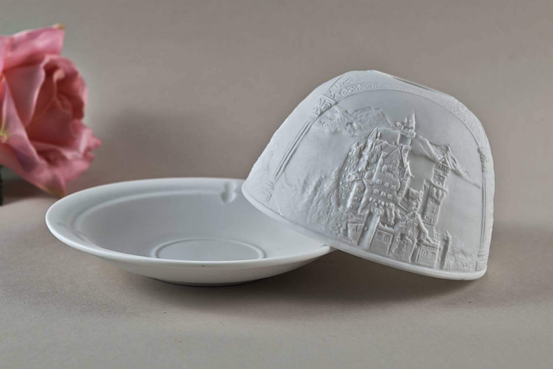 Kerzenfarm Dome Light Nr. 30013 Neuschwanstein - Teelicht Windlicht Dekoration Porzellanteelicht - 3