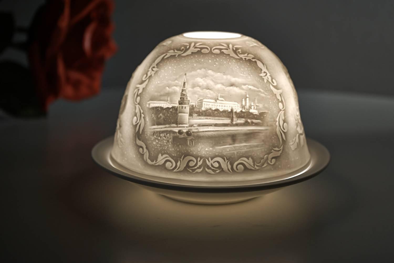 Kerzenfarm Hahn Dome-Light Nr. 30023 Moskau - Teelicht Windlicht Dekoration Porzellanteelicht - 2