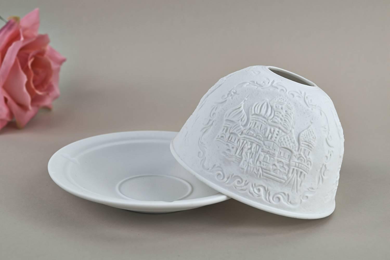 Kerzenfarm Hahn Dome-Light Nr. 30023 Moskau - Teelicht Windlicht Dekoration Porzellanteelicht - 4