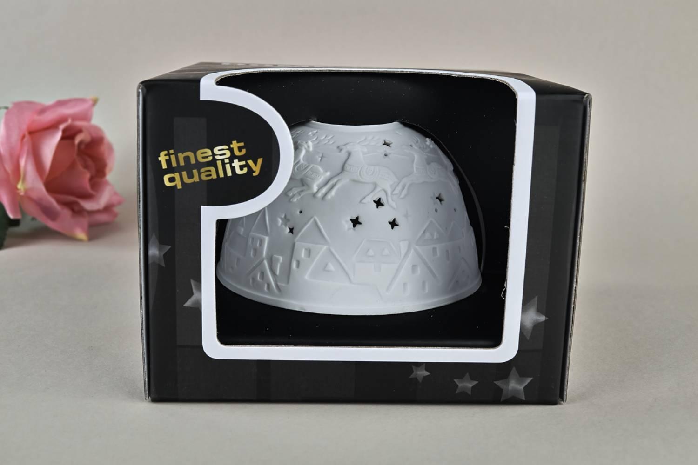Kerzenfarm Dome Light Nr. 30031 Bescherung1 - Teelicht Windlicht Dekoration Porzellanteelicht - 4