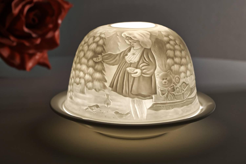 Kerzenfarm Dome Light Nr. 30032 Teddybär - Teelicht Windlicht Dekoration Porzellanteelicht - 2