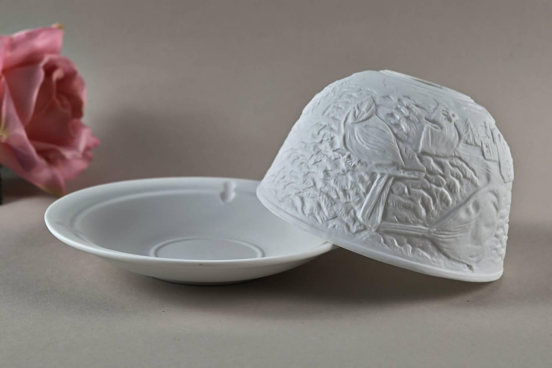 Kerzenfarm Dome Light Nr. 30033 Seidenschwanz - Teelicht Windlicht Dekoration Porzellanteelicht - 2