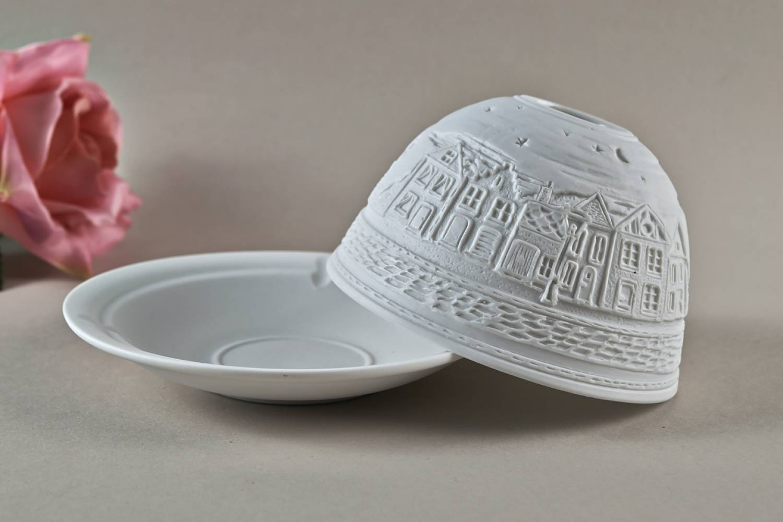 Kerzenfarm Dome Light Nr. 30034 Strasse bei Nacht - Teelicht Windlicht Dekoration Porzellanteelicht - 3