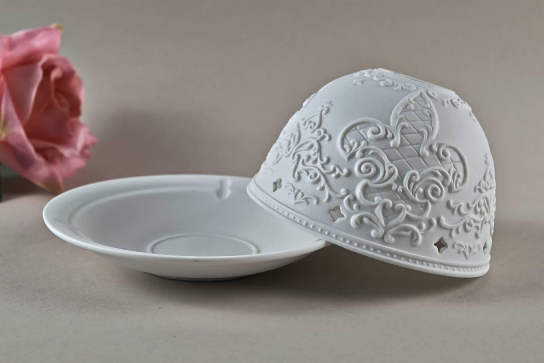Kerzenfarm Hahn Dome Light Nr. 30036 Gotik - Teelicht Windlicht Dekoration Porzellanteelicht - 2