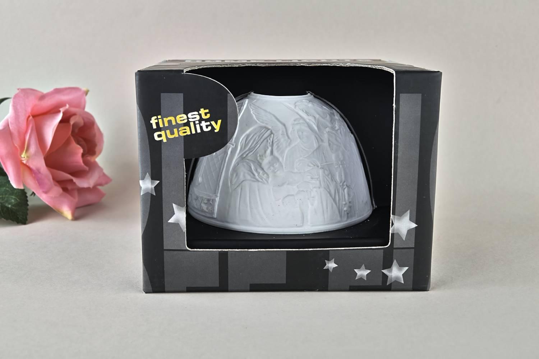 Kerzenfarm Dome Light Nr. 30037 Engelskonzert - Teelicht Windlicht Dekoration Porzellanteelicht - 3