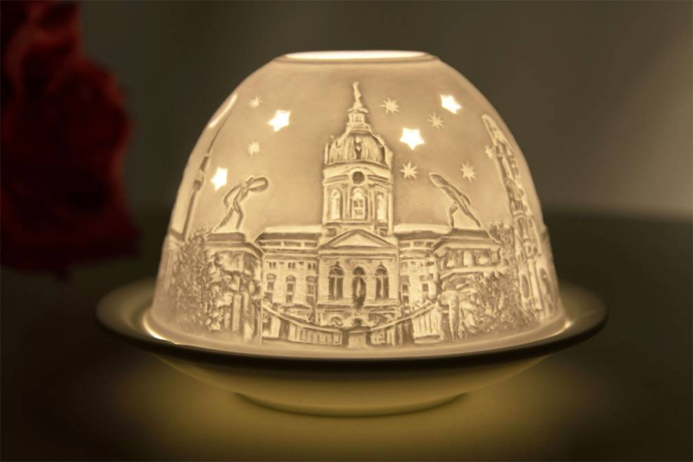Kerzenfarm Hahn Dome-Light Nr. 30044 Berlin - Teelicht Windlicht Dekoration Porzellanteelicht - 2