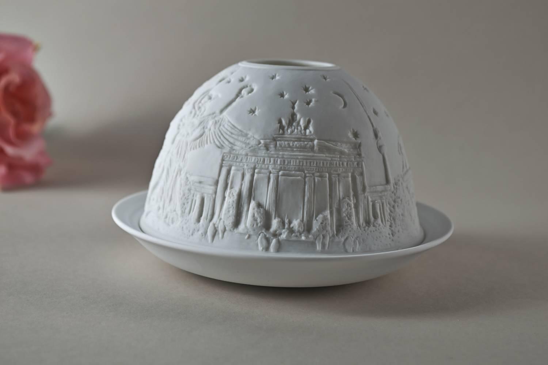 Kerzenfarm Hahn Dome-Light Nr. 30044 Berlin - Teelicht Windlicht Dekoration Porzellanteelicht - 4
