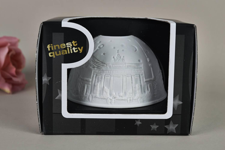 Kerzenfarm Hahn Dome-Light Nr. 30044 Berlin - Teelicht Windlicht Dekoration Porzellanteelicht - 5