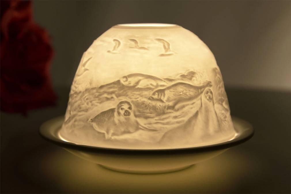 Kerzenfarm Dome Light Nr. 30048 Leuchtturm - Teelicht Windlicht Dekoration Porzellanteelicht - 2