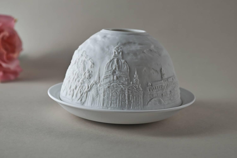 Kerzenfarm Hahn Dome-Light Nr. 30152 Dresden - Teelicht Windlicht Dekoration Porzellanteelicht - 4
