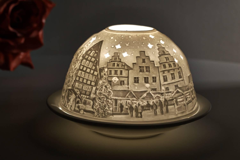 Kerzenfarm Dome Light, Nr. 30155 Osnabrück - Teelicht Windlicht Dekoration Porzellanteelicht - 2