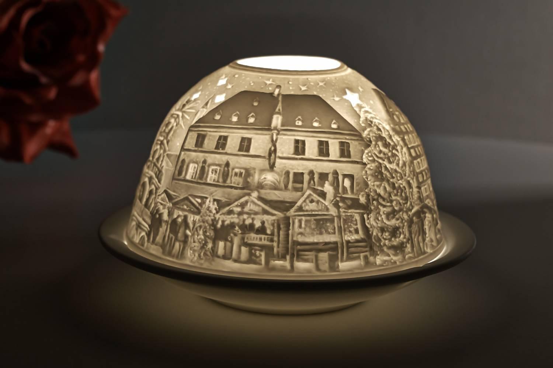 Kerzenfarm Dome Light, Nr. 30155 Osnabrück - Teelicht Windlicht Dekoration Porzellanteelicht - 3
