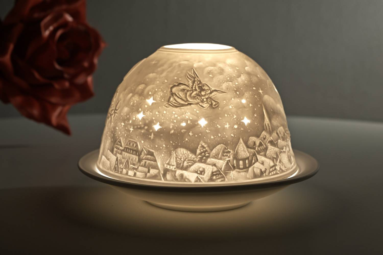 Dome Light Nr 30164 Weihnachtstraum Teelichthalter Windlicht Aus